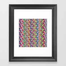 Rainbow Braids Framed Art Print