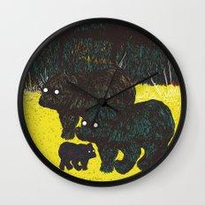 Wandering Bears Wall Clock