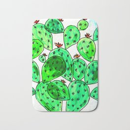 Cacti with marble sky Bath Mat