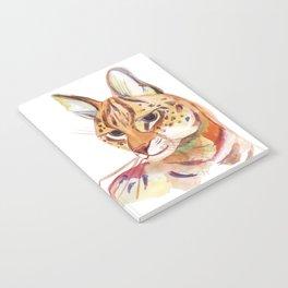 Serval wild cat watercolor Notebook