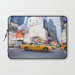 Yellow taxi cab in times square Laptop Sleeve
