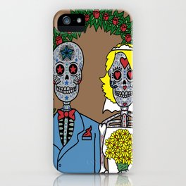 Day of the Dead Bride & Groom Portrait iPhone Case