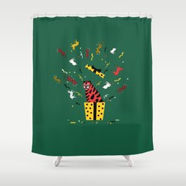 gift tiger Shower Curtain