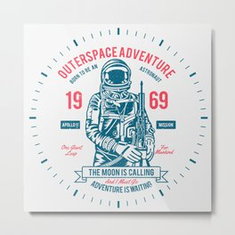 Outer space Adventure - Born to be an astronaut Metal Print