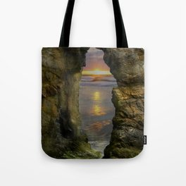 Perranporth Sunset, Cornwall, England, United Kingdom Tote Bag