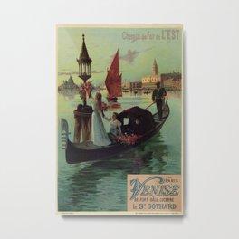 Paris Venice Victorian romantic travel Metal Print