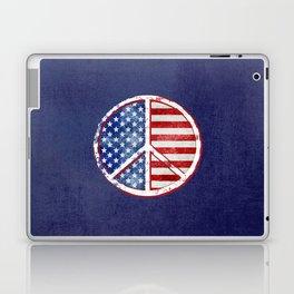 Watercolor Patriot Peace Symbol Stars and Stripes USA Flag Laptop & iPad Skin