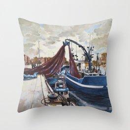 Fishing 2 Throw Pillow