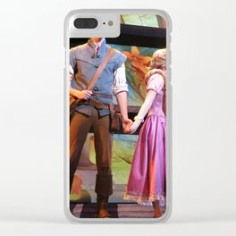 Flynn Rider and Rapunzel, Mickey and the Magical Map at Disneyland Clear iPhone Case