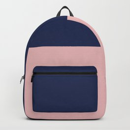 Cheerful Striped Pattern in Navy Blue, Pink, and White Backpack