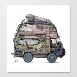 Dream Van - interior view Canvas Print