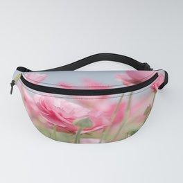 Pink Ranunculus Flowers Fanny Pack