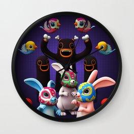 Lucha Rabbit Wall Clock