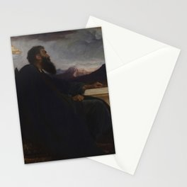 """David: """"Oh, that I had wings like a Dove! For then would I fly away, and be at rest."""" Psalm 55:6 by Frederic Leighton Stationery Cards"""