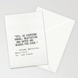 Herman Melville quote 17 Stationery Cards