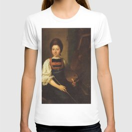 Angelica Kauffmann - Self-Portrait in the Traditonal Costume of the Bregenz Forest, Seated at her Ea T-shirt
