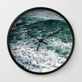 Waves.Ocean.Water Texture.35mm film.Oregon.Sea.Coast.Teal. Wall Clock
