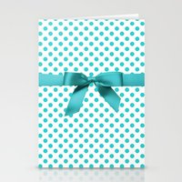 polkadot Stationery Cards featuring Blue Tiffany Polkadot by albert Junior