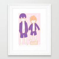 volleyball Framed Art Prints featuring Volleyball Dorks by DoubleKuro