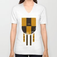 hufflepuff V-neck T-shirts featuring hufflepuff crest by nisimalotse
