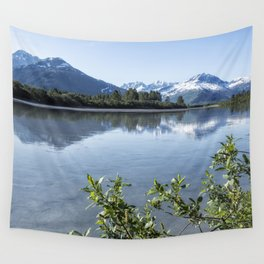 Placer River at the Bend in Turnagain Arm, No. 2 Wall Tapestry