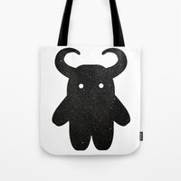 taurus Tote Bags featuring Taurus by Leandra Lilly Dreyer