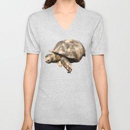 Sulcata Tortoise (grazing) Unisex V-Neck