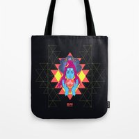 om Tote Bags featuring Om by RJ Artworks