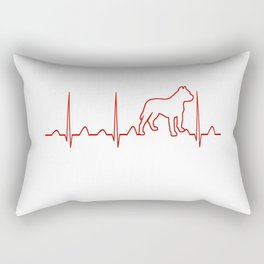 PITBULL HEARTBEAT Rectangular Pillow