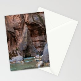 Man With Drowning Concerns (The Narrows, Zion National Park, Utah) Stationery Cards