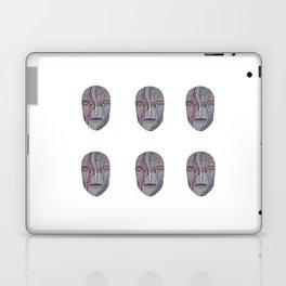 Woman's Visage purple mouth Laptop & iPad Skin