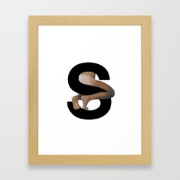 S. Framed Art Print