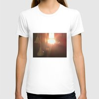 bathroom T-shirts featuring Bathroom Lights by Efua Boakye