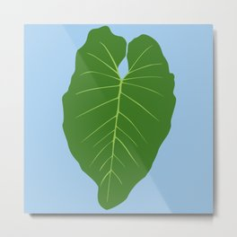 "Tropical ""Elephant Ear"" Leaf Metal Print"
