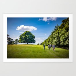 Walking in Skipton Art Print