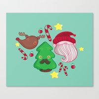 xmas Canvas Prints featuring Xmas by Maria Jose Da Luz