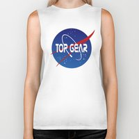 nasa Biker Tanks featuring Top Gear 'NASA' logo by not-the-stig