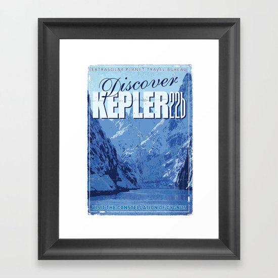 My Exoplanetary Travel Poster: Kepler 22b Framed Art Print