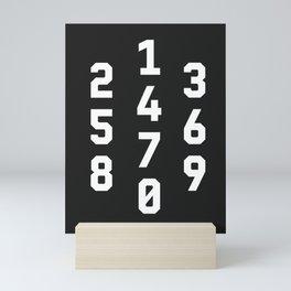Typography Numbers #3 Mini Art Print