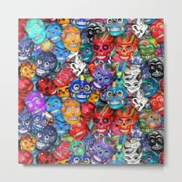 Calaveras Pequeñas - Little Sugar Skulls Metal Print
