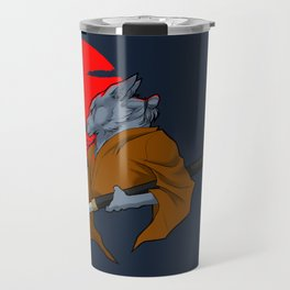 Wolf Samurai Travel Mug