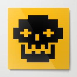 Funky Skull Head Metal Print