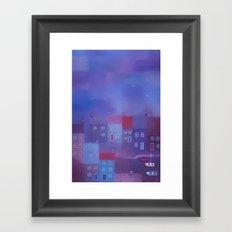 Devon evening Framed Art Print