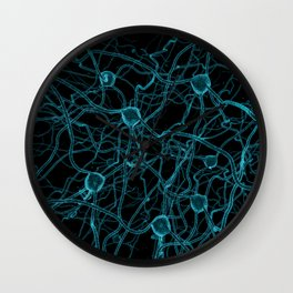 You Get on My Nerves! / 3D render of nerve cells Wall Clock