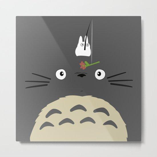 Cute Totoro Metal Print