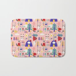 Tortoise and the Hare is one of Aesop Fables pink Bath Mat