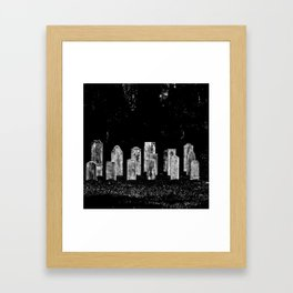Tombstone Rows Framed Art Print