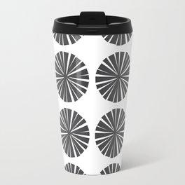 Parasols in Black and White Travel Mug