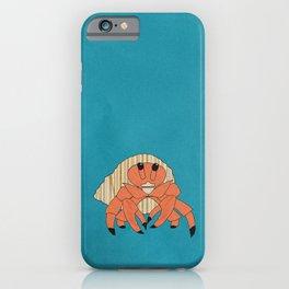 Paper Collage Hermit Crab iPhone Case