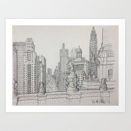 Chicago - South Michigan Avenue Art Print
